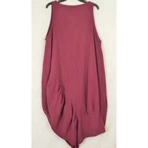 Oh My Gauze! Dresses - Oh My Gauze dress sleeveless M/L wine lagenlook